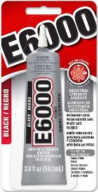 E6000 CRAFT Glue BLACK 2 oz. Tube 6 Per Case  #237039C