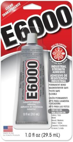 E6000 Glue CLEAR Medium Viscosity 1 ounce Tube  #231017