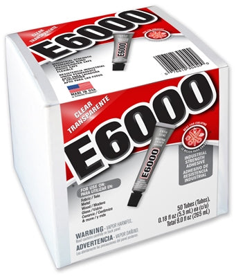 E6000 Glue Clear MV .18oz Tube Box/50  #230450 - Creative Wholesale