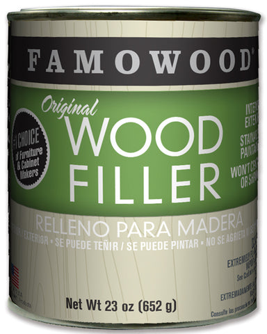 Famowood Wood Filler Ash Solvent Based 23oz 12/Case 36021102C