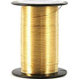 Bead/Craft Wire, 20 gauge Gold, 12 yds per spool #2485-212 - Creative Wholesale