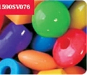Novelty Beads Jumbo, 25mm, Opaque  Multi #1590SV076 1 lb - Beadery Products
