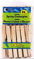 Large Spring Clothespins  by Simply Art 24 Count 1021193 - Creative Wholesale