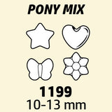 Pony Beads Mixed Opaque Multi 1/2 lb #1199SV076