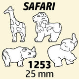 Novelty Beads, Safari Antique Safari Multi  #1253SV080A