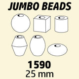 Novelty Beads Jumbo, 25mm, Opaque  Multi #1590SV076 1 lb