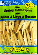 Mini Spring Clothespins  by Simply Art 24 Count 1021179