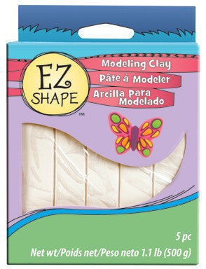 EZ Shape Non Dry Modeling Clay, White, 5 pc - Creative Wholesale