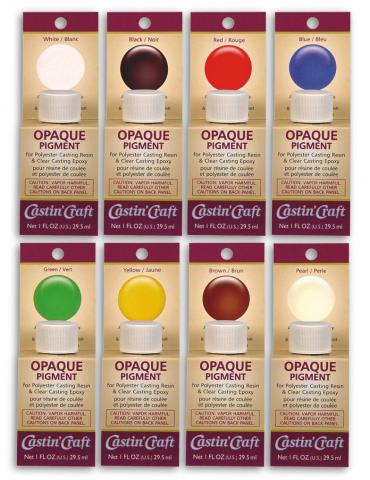 Opaque Pigments Assortment, 8 - 1 oz colors.,  #46301