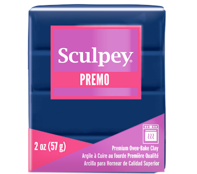 Premo Sculpey® Navy 2 oz bar PE02 5050 NEW PRODUCT - Creative Wholesale