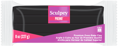 Premo Sculpey® Black, 8 ounce blocks, PE08 5042 - Creative Wholesale