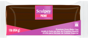 Premo Sculpey® Clay Burnt Umber 1 pound bar PE1 5053