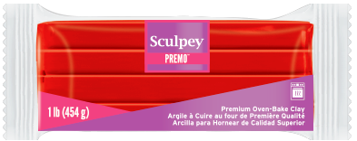 Premo Sculpey® Clay Cadmium Red Hue 1 Pound Bar PE1 5382