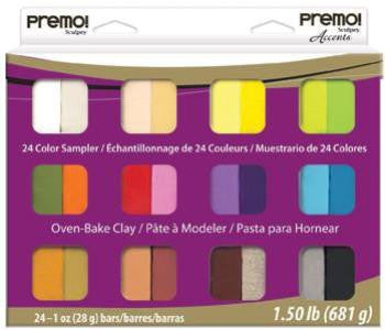 Premo! Sculpey Multipack,  Sampler, 24 x 1oz. PE MP024