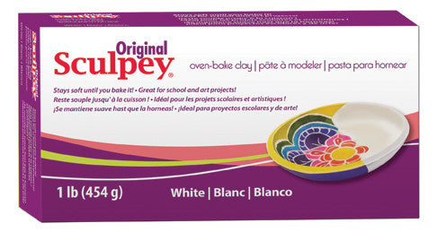 Sculpey Original White, 1 Pound  S01