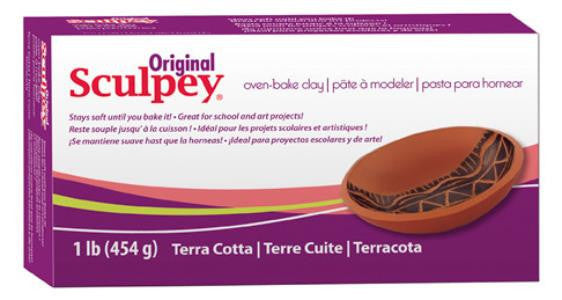 Sculpey Original Terra Cotta, 1 Pound   S01T - Creative Wholesale