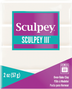 Sculpey III Polymer Clay, White, 2 ounce bar, S302 001 - Creative Wholesale