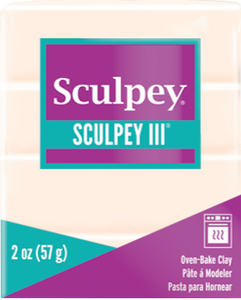 Sculpey III Polymer Clay, Translucent, 2 ounce bar,  S302 010 - Creative Wholesale