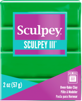 Sculpey III Polymer Clay, Emerald, 2 ounce bar, S302 323 - Creative Wholesale