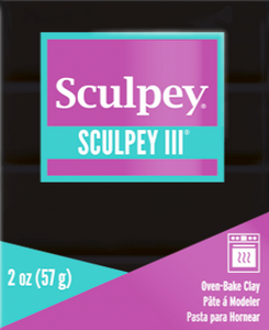 Sculpey III Polymer Clay, Black, 2 ounce bar, S302 042 - Creative Wholesale