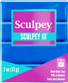 Sculpey III Polymer Clay, Blue, 2 ounce bar, S302 063 - Creative Wholesale