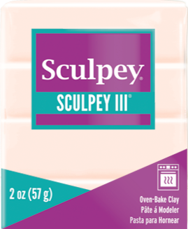 Sculpey III Polymer Clay, Beige, 2 ounce bar,  S302 093 - Creative Wholesale
