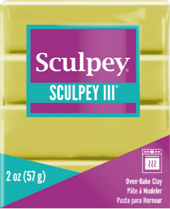 Sculpey III Polymer Clay, Glow in the Dark, 2 oz. S302 1113 - Creative Wholesale