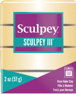Sculpey III Polymer Clay, Jewelry Gold, 2 ounce bar. S302 1132 - Creative Wholesale