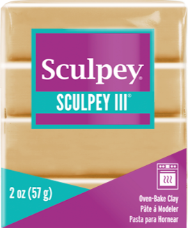 Sculpey III Polymer Clay, Tan, 2 ounce bar, S302 301 - Creative Wholesale