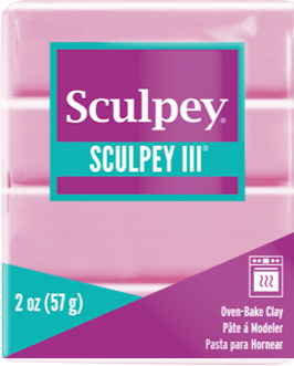 Sculpey III Polymer Clay, Dusty Rose, 2 ounce bar, S302 303 - Creative Wholesale