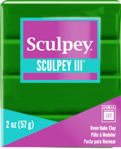 Sculpey III Polymer Clay, Leaf Green, 2 ounce bar, S302 322 - Creative Wholesale