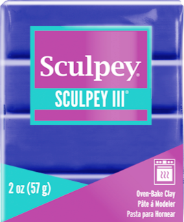 Sculpey III Polymer Clay, Purple, 2 ounce bar.  S302 513 - Creative Wholesale