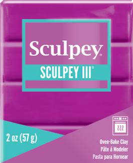 Sculpey III Polymer Clay Violet 2 oz S302 515 - Creative Wholesale