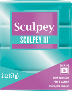 Sculpey III Polymer Clay,  Teal Pearl, 2 oz. S302 538 - Creative Wholesale