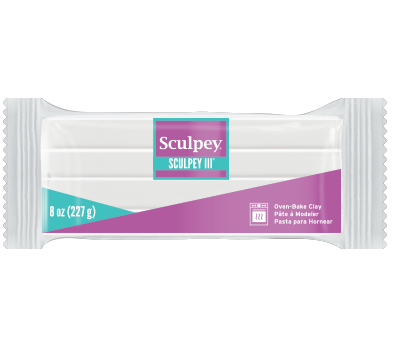 Sculpey III, White 8 ounce block, S308 001 - Creative Wholesale