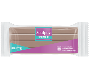 Sculpey® III, Hazelnut, 8 ounce Block,  S308 1657 - Creative Wholesale
