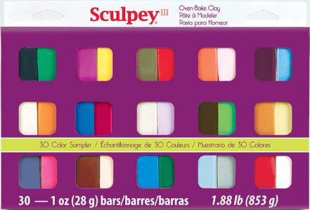 Sculpey III Sampler Pack, 30 x 1 oz.  S3 30-1 - Creative Wholesale
