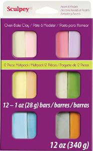 Sculpey III Multipack, Pearls &Pastels  12 x 1 oz.  S3 VMP-6 - Creative Wholesale