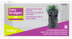 Super Sculpey Firm Gray, 1 pound  SS1SCULP - Creative Wholesale