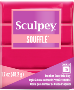 Sculpey Souffle Raspberry 1.7 ounce SU 6004 New Color - Creative Wholesale