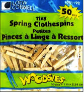 Tiny Spring Clothespins  by Simply Art 50 Count 1021192