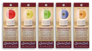 Transparent Dyes Assortment, 5 - 1 oz colors.,  #46401