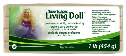Super Sculpey Living Doll Clay, 1 lb Light Beige ZSLD-3 - Creative Wholesale