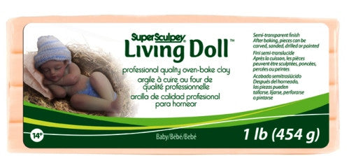 Super Sculpey Living Doll Clay, 1 lb Baby ZSLD-4 - Creative Wholesale