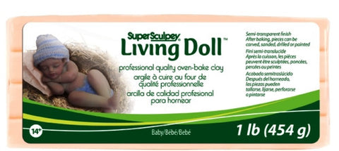 Super Sculpey Living Doll Clay, 1 lb Baby ZSLD-4