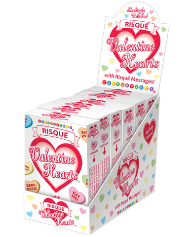 Risque Valentines Heart Candy - 1.6 oz Boxes Display of 6
