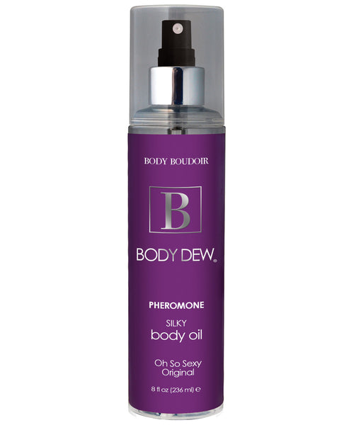 Body Dew Silky Body Oil w/Pheromones - 8 oz Original