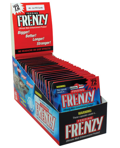 Frenzy Ultimate Male Enhancement 1 Capsule - Display of 48