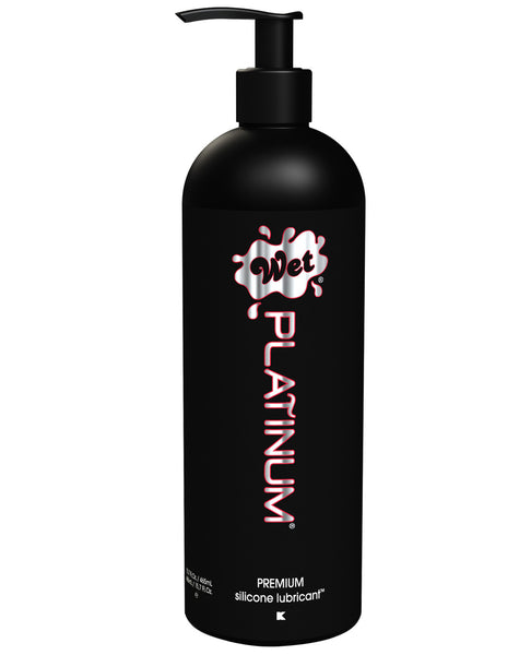 Wet Platinum Premium Silicone Based Personal Lubricant - 15.7 oz Pump Bottle