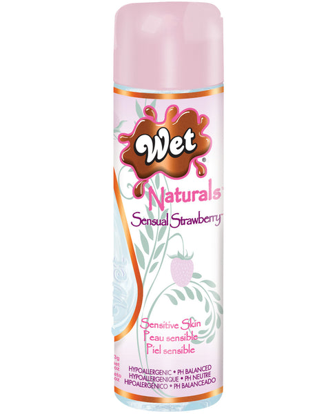 Wet Naturals Glycerin & Paraben Free Waterbased Personal Lubricant - 3.3 oz Sensual Strawberry